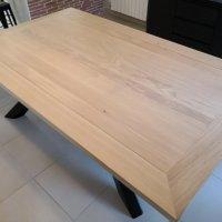 Table fer et bois massif